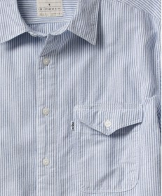 Mason One Pocket Workshirt 643030017 Blue & White Stripe 2